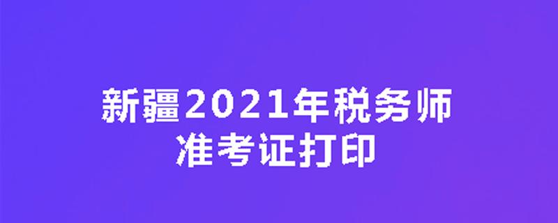 新疆2021年税务师准考证打印