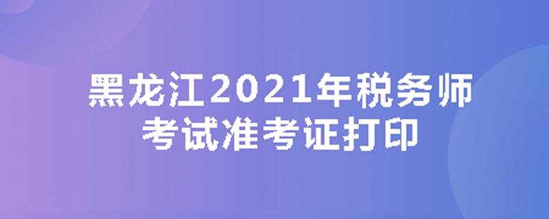 黑龙江2020年税务师考试准考证打印
