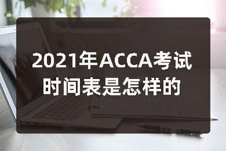 2021年ACCA考试时间表是怎样的?