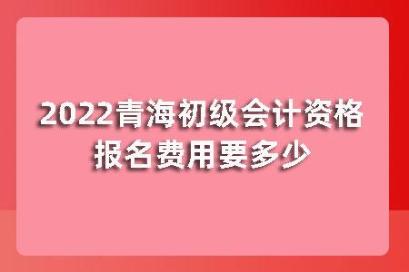 2022青海初级会计资格报名费用要多少?
