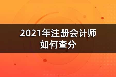 2021年注册会计师如何查分