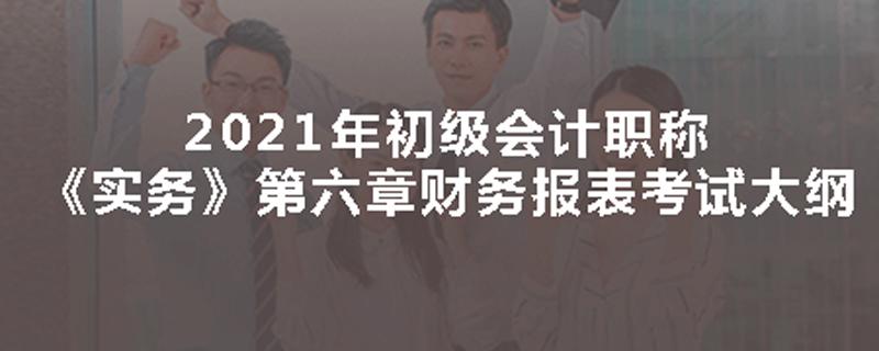 2021年初会《实务》第六章财务报表考试大纲