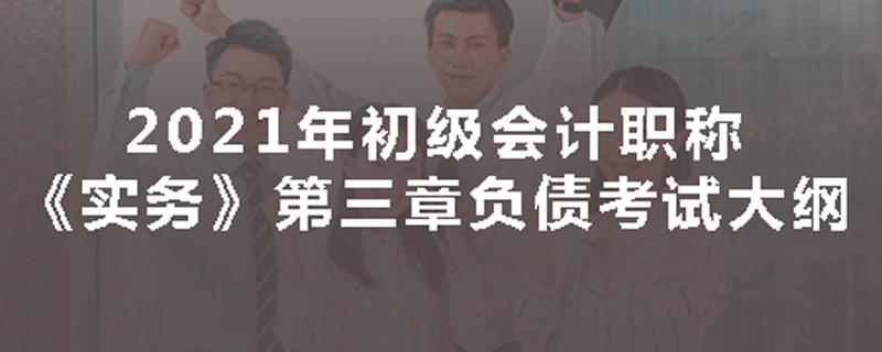 2021年初级会计职称《实务》考试大纲第三章负债
