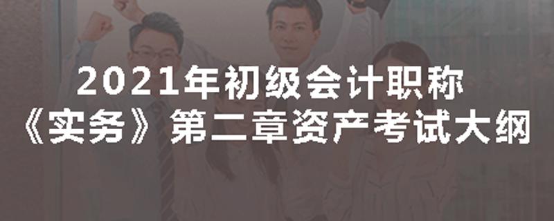 2021年初级会计职称《实务》第二章资产考试大纲